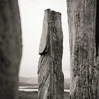 Detail of the Callanish Stone Circle, Isle of Lewis, northwest Scotland.