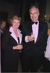 MR & MRS PETER SNOW he is the TV presenter,  at a dinner in London on 2nd October 1997.MBW 41