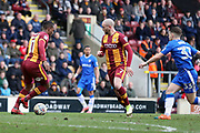 Bradford City forward Dominic Poleon (11) on the ball  during the EFL Sky Bet League 1 match between Bradford City and Gillingham at the Northern Commercials Stadium, Bradford, England on 24 March 2018. Picture by Mick Atkins.
