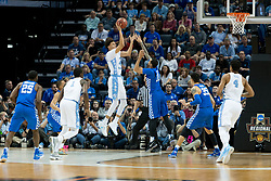 North Carolina forward Justin Jackson scores in the first half. <br /> <br /> The University of Kentucky hosted the University of North Carolina in a 2017 NCAA D1 Men's South Regional Championship, Sunday, March 26, 2017 at FedExForum in Memphis.