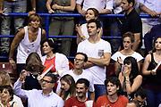 DESCRIZIONE : Campionato 2013/14 Finale Gara 7 Olimpia EA7 Emporio Armani Milano - Montepaschi Mens Sana Siena Scudetto<br /> GIOCATORE : Stefano Genitle<br /> CATEGORIA : Tifosi VIP<br /> SQUADRA : Olimpia EA7 Emporio Armani Milano<br /> EVENTO : LegaBasket Serie A Beko Playoff 2013/2014<br /> GARA : Olimpia EA7 Emporio Armani Milano - Montepaschi Mens Sana Siena<br /> DATA : 27/06/2014<br /> SPORT : Pallacanestro <br /> AUTORE : Agenzia Ciamillo-Castoria /GiulioCiamillo<br /> Galleria : LegaBasket Serie A Beko Playoff 2013/2014<br /> FOTONOTIZIA : Campionato 2013/14 Finale GARA 7 Olimpia EA7 Emporio Armani Milano - Montepaschi Mens Sana Siena<br /> Predefinita :