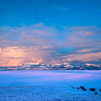 stormy winter clouds over badger two medicine, rocky mountain front