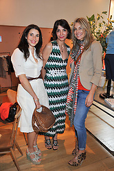 Left to right, LAUREN KEMP, EVA KARAYANNIS and JADE PARFITT at a ladies lunch in aid of Mothers4Children hosted by Carmelbabyandchild at 259 Pavillion Road, London SW1 on 30th June 2011.