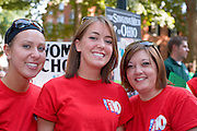 19027Freshman Convocation 9/07/08....Casey Feran, Aslee Dietrich, and Laura Dulle (Womens Chorale)
