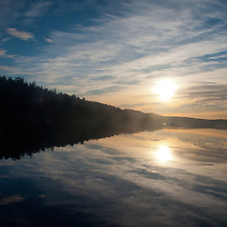 Sunrise at Reid Harbor, Stuart Island, Washington, US
