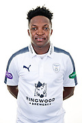 Fidel Edwards of Hampshire during the Hampshire CCC photo call 2017 at  at the Ageas Bowl, Southampton, United Kingdom on 12 April 2017. Photo by David Vokes.