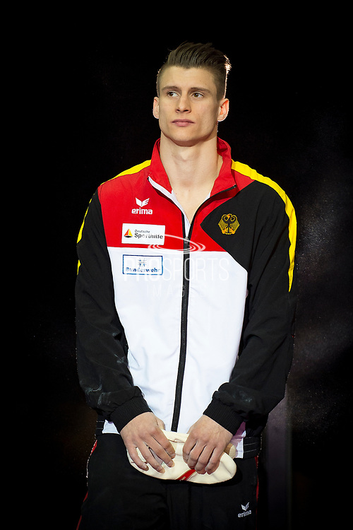Lukas Dauser of Germany (GER) during the iPro Sport World Cup of Gymnastics 2017 at the O2 Arena, London, United Kingdom on 8 April 2017. Photo by Martin Cole.