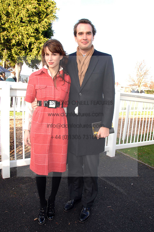 FRITZ VON WESTENHOLZ and CAROLINE SIEBER at the 2007 Hennessy Gold Cup held at Newbury racecourse, Berkshire on 1st December 2007.<br />