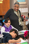 Dr. Johnnie Carter teaches poetry to her 4th grade class at De Anda Elementary School, February 5, 2014.
