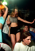 Girl dancing at a rave, 17/5/1997, Oscars Clacton