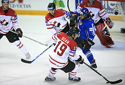 Shane Doan of Canada, Teemu Selanne of Finland at ice-hockey game Canada vs Finland at Qualifying round Group F of IIHF WC 2008 in Halifax, on May 12, 2008 in Metro Center, Halifax, Nova Scotia, Canada. Canada won. (Photo by Vid Ponikvar / Sportal Images)