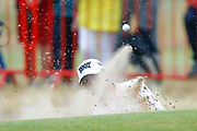 Lydia Ko escapes from the green side bunker on the 18th green during the Ricoh Women's British Open golf tournament at Royal Lytham and St Annes Golf Club, Lytham Saint Annes, United Kingdom on 3 August 2018. Picture by Simon Davies.