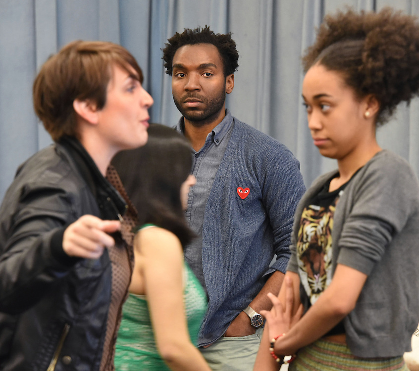 "Photo by Mara Lavitt<br /> The sitzprobe for ""The Chidren,"" a musical by Phillip Howze, directed by Jessica Holt, part of the Yale School of Drama Carlotta Festival of New Plays 2015."