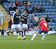 Dundee's Nicky Low and Wigan's David Perkins - Dundee v Wigan Athletic - pre season friendly at Dens Park<br /> <br />  - &copy; David Young - www.davidyoungphoto.co.uk - email: davidyoungphoto@gmail.com