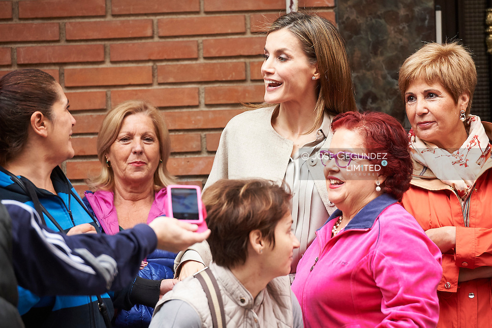 Queen Letizia of Spain attends a Meeting at the headquarters of the 'Mental Health Confederation Spain' on October 18, 2016 in Madrid