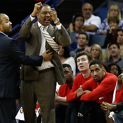 Dec 28, 2016; New Orleans, LA, USA;  New Orleans Pelicans head coach Alvin Gentry is held back after being ejected  during the second quarter of a game against the Los Angeles Clippers at the Smoothie King Center. Mandatory Credit: Derick E. Hingle-USA TODAY Sports