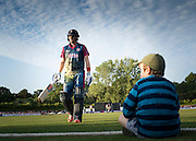 Kent's Sam Billings walks off after getting out during their NatWest T20 Blast game against Glamorgan at Tunbridge Wells, Kent, 17th July 2015.
