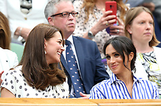 Celebrities at Wimbledon - 14 July 2018