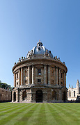 The Radcliffe Camera, Oxford, England, designed by James Gibbs in the English Palladian style and built in 1737-1749 to house the Radcliffe Science Library.