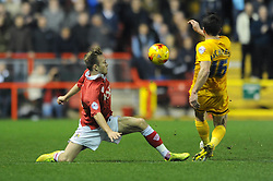 Bristol City's Todd Kane challenges Preston North End's David Buchanan - Photo mandatory by-line: Dougie Allward/JMP - Mobile: 07966 386802 - 22/11/2014 - Sport - Football - Bristol - Ashton Gate - Bristol City v Preston North End - Sky Bet League One