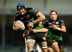 Exeter Chiefs' Lock, Dean Mumm breaks free  - Photo mandatory by-line: Joe Meredith/JMP - Mobile: 07966 386802 - 24/01/2015 - SPORT - Rugby - Exeter - Sandy Park Stadium - Exeter Chiefs v Bayonne - Challenge Cup Round 6