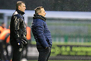 Forest Green Rovers manager, Mark Cooper during the EFL Sky Bet League 2 match between Forest Green Rovers and Mansfield Town at the New Lawn, Forest Green, United Kingdom on 15 December 2018.