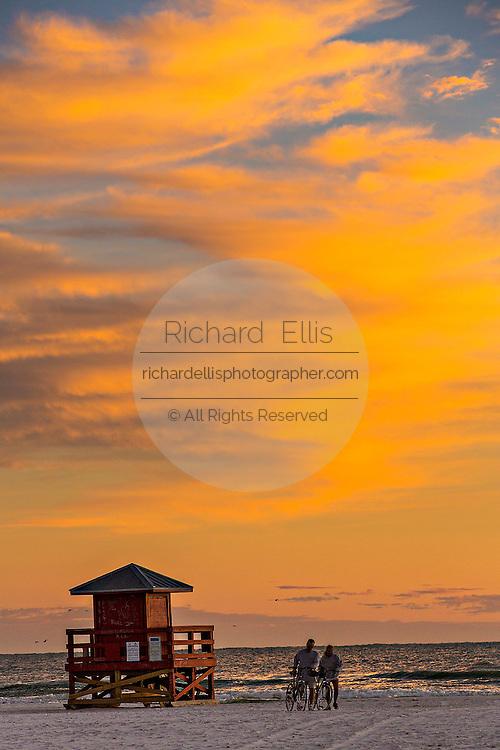 Siesta Key beach at sunset Sarasota, Florida