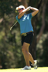 (Canberra, Australia---30 January 2011) Ashley Ona (Amateur) of Queensland, Australia playing in the final round of the ActewAgl Royal Canberra Ladies golf tournament as part of the 2011 Australian Ladies Pro Golf Tour./ 2011 Copyright Sean Burges. For Australian editorial sales, contact seanburges@yahoo.com.