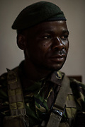 Alexandre Kasareka Kisuki, sits for a portrait at Garamba National Park on November 27, 2017. Kisuki was one of a group of rangers involved in an firefight in April with members of the Lord's Resistance Army rebel group (LRA), one of the threats facing rangers in Garamba.