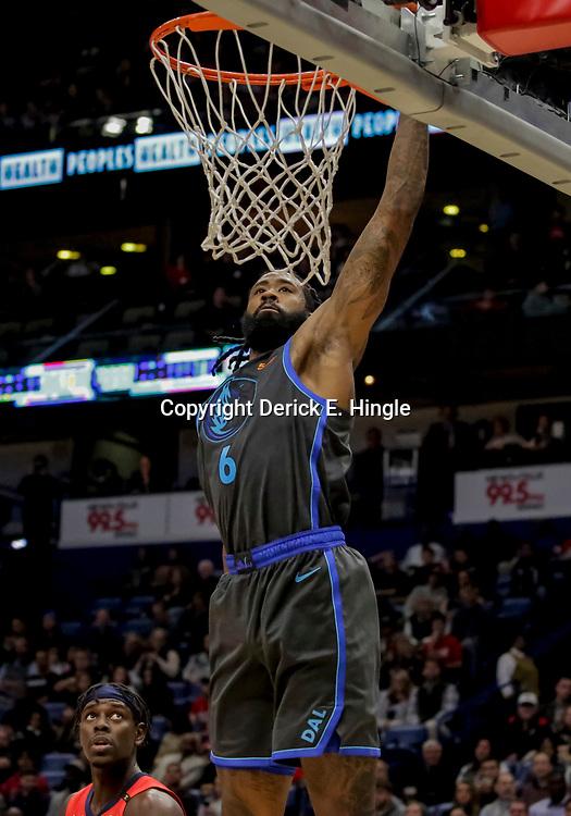 Dec 5, 2018; New Orleans, LA, USA; Dallas Mavericks center DeAndre Jordan (6) dunks against the New Orleans Pelicans during the second quarter at the Smoothie King Center. Mandatory Credit: Derick E. Hingle-USA TODAY Sports