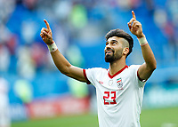 Ramin Rezaeian (Iran) celebration end of the match<br /> Saint Petersburg 15-06-2018 Football FIFA World Cup Russia  2018 <br /> Morocco - Iran / Marocco - Iran <br /> Foto Matteo Ciambelli/Insidefoto