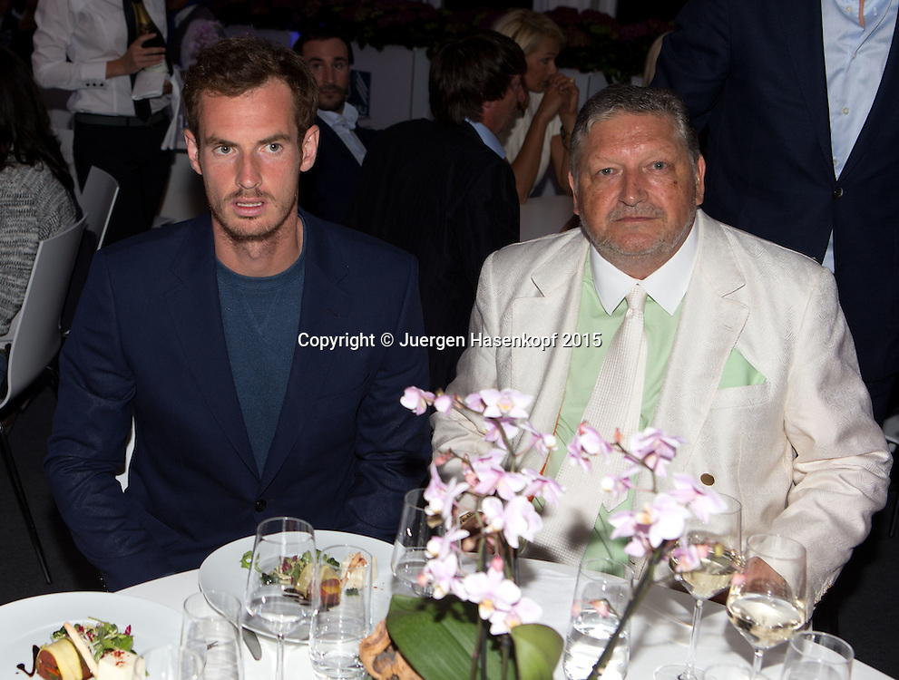 BMW Open Players Party,<br /> Andy Murray und Dr. Manfred Dirrheimer,<br /> <br /> Tennis - BMW Open - ATP -   - Muenchen - Bayern - Germany  - 27 April 2015. <br /> &copy; Juergen Hasenkopf