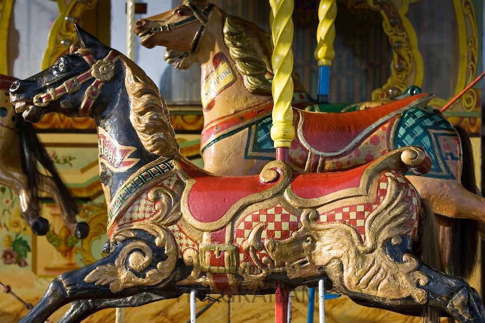 Carousel horses in Place de la Concorde, Paris, France