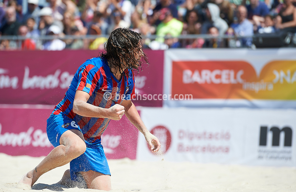 Barcelona, Spain -  May, 3: <br /> Barcelona Beach Soccer Cup 2015 at Port Olímpic on May 3, 2015 in Barcelona ,Spain. (Photo by Lea Weil)