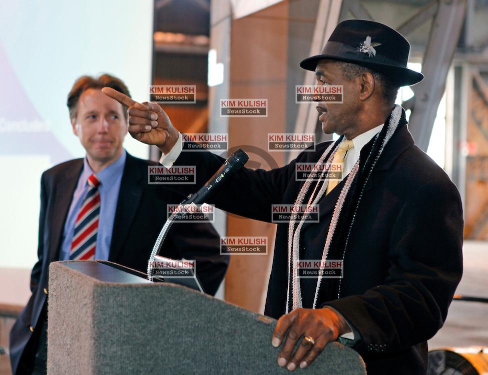 Vallejo Mayor Osby Davis attends a business gathering in Vallejo