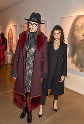 12 December 2019 - Joshua Kane and Anastasiya Higgins at a private view of Lethe by Henrik Uldalen at JD Malat Gallery. 30 Davies Street, London.<br /> <br /> Photo by Dominic O'Neill/Desmond O'Neill Features Ltd.  +44(0)1306 731608  www.donfeatures.com