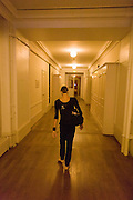 Ballerina, Dorothée Gilbert walks through corridors to her class at the Palais Garnier, Paris. <br /> <br /> From the chapter entitled 'Etoile' and from the book 'Risk Wise: Nine Everyday Adventures' by Polly Morland (Allianz, The School of Life, Profile Books, 2015). <br /> <br /> FOR REPRODUCTION OTHER THAN RELATED TO THE BOOK 'RISK WISE', PERMISSION FROM DOROTHEE GILBERT IS REQUIRED.