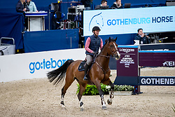 STAUT Kevin (FRA), Edesa's Cannary<br /> Göteborg - Gothenburg Horse Show 2019 <br /> Longines FEI Jumping World Cup™ Final<br /> Training Session<br /> Warm Up Springen / Showjumping<br /> Longines FEI Jumping World Cup™ Final and FEI Dressage World Cup™ Final<br /> 03. April 2019<br /> © www.sportfotos-lafrentz.de/Stefan Lafrentz