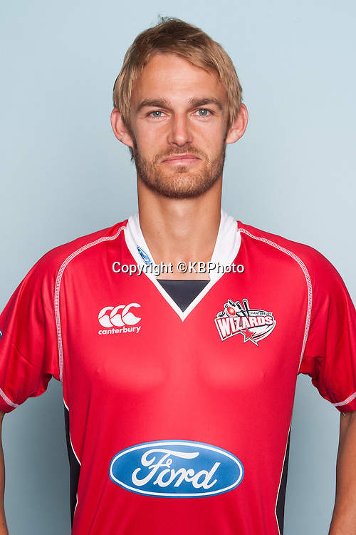 Willie Lonsdale, Canterbury Wizards headshots for the 2012/2013 season. New Zealand domestic cricket. Photo: Canterbury Cricket
