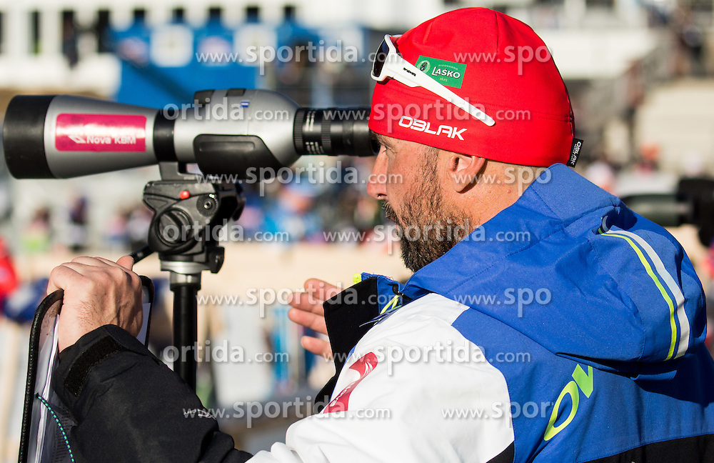 Tomas Kos, head coach of Slovenia during Women 7,5 km Sprint at day 2 of IBU Biathlon World Cup 2015/16 Pokljuka, on December 18, 2015 in Rudno polje, Pokljuka, Slovenia. Photo by Vid Ponikvar / Sportida