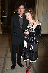 Actress HELENA BONHAM-CARTER and her husband TIM BURTON at a party to celebrate the publication of  'Put On Your Pearl Girls!' by Lulu Guinness held at the V&A museum, London on 5th May 2005.<br />