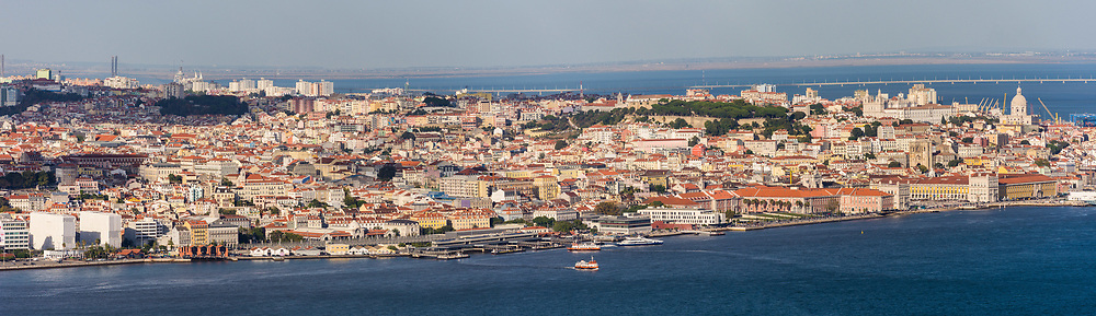 Panorama of the Tagus River and Lisbon, Portugal
