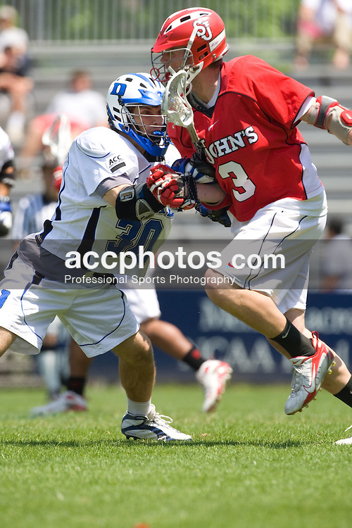 04 May 2008: Duke Blue Devils midfielder Terrence Molinari (30) in a 16-9 win over the St. John's Red Storm at Koskinen Stadium in Durham, NC