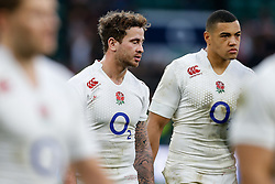England replacement Danny Cipriani looks dejected - Photo mandatory by-line: Rogan Thomson/JMP - 07966 386802 - 14/02/2015 - SPORT - RUGBY UNION - London, England - Twickenham Stadium - England v Italy - 2015 RBS Six Nations Championship.
