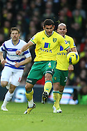 Picture by Paul Chesterton/Focus Images Ltd.  07904 640267.26/11/11.Bradley Johnson of Norwich in action during the Barclays Premier League match at Carrow Road Stadium, Norwich.