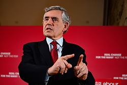 Glasgow, Scotland, UK. 20 May 2019. Former Prime Minister Gordon Brown at launch of Scottish Labour's European Elections campaign at The Lighthouse in Glasgow.