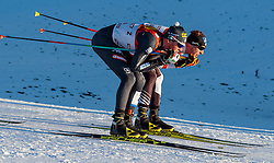 27.01.2017, Casino Arena, Seefeld, AUT, FIS Weltcup Nordische Kombination, Seefeld Triple, Langlauf, im Bild v.l.: Samuel Costa (ITA), Bernhard Gruber (AUT) // f.l.: Samuel Costa of Italy Bernhard Gruber of Austria during Cross Country Gundersen Race of the FIS Nordic Combined World Cup Seefeld Triple at the Casino Arena in Seefeld, Austria on 2017/01/27. EXPA Pictures © 2017, PhotoCredit: EXPA/ JFK