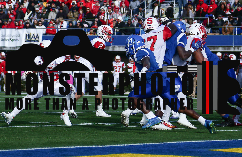 Smyrna running back William Knight (25) scores a 3-yard touch down during the DIAA division one Football Championship game between Top-seeded Middletown (11-0) and second-seeded Smyrna (11-0) Saturday, Dec. 03, 2016 at Delaware Stadium in Newark.