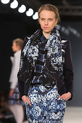 © Licensed to London News Pictures. 31/05/2014. London, England. Collection by Chloe Sanders from Northumbria University Newcastle. Graduate Fashion Week 2014, Runway Show at the Old Truman Brewery in London, United Kingdom. Photo credit: Bettina Strenske/LNP
