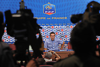 FOOTBALL - MISCS - FEDERATION FRANCAISE DE FOOTBALL PRESS CONFERENCE - PARIS - FRANCE - 06/07/2010 - PHOTO STEPHANE KAMPINAIRE / DPPI - PRESENTATION LAURENT BLANC (FRANCE NEW COACH)